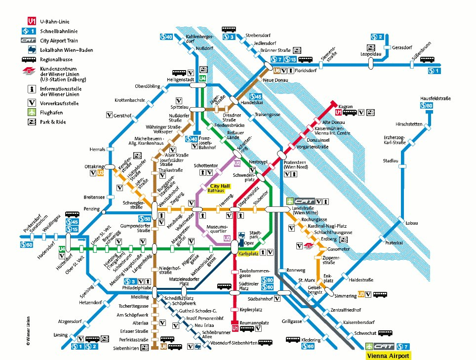 Vienna Subway Map.Vienna Subway Ares 2006